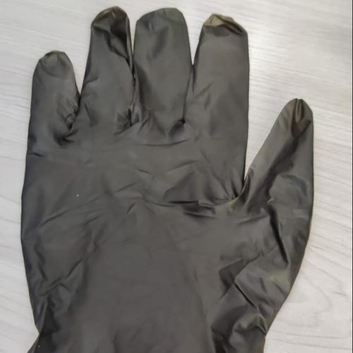 TPE Black Gloves Hybrid  Black  Blue  Nitrile Hybrid Gloves