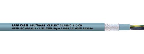Halogen-free control cable