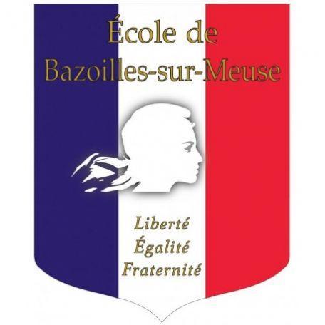 Écusson Porte-drapeaux Tricolore Personnalisable + Liberté Égalité Fraternité