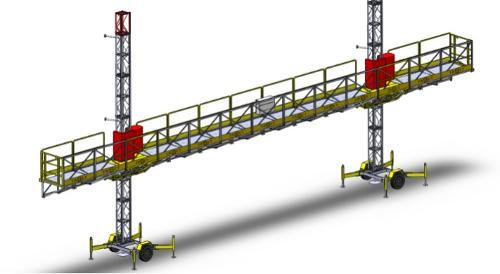 ERP3000 Hareketli Platform İskele