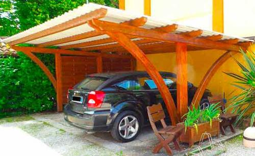 Carport per ricovero auto