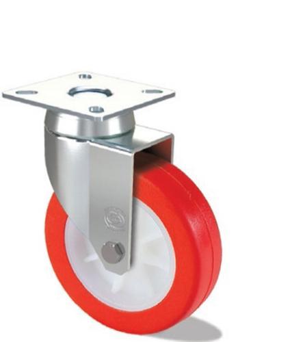 Polyurethane wheel with nylon 6 centre