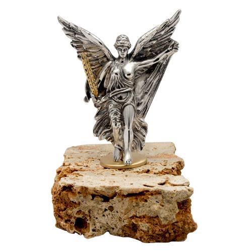 The Nike of Paionios - Greek Statue Figure in Sterling Silve