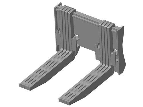 Вилы для перемещения блоков Impulse QFB-500