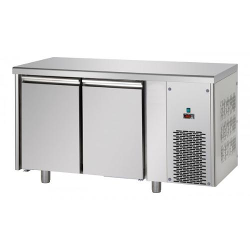 Tables réfrigérées négative 2 portes inox sans dosseret