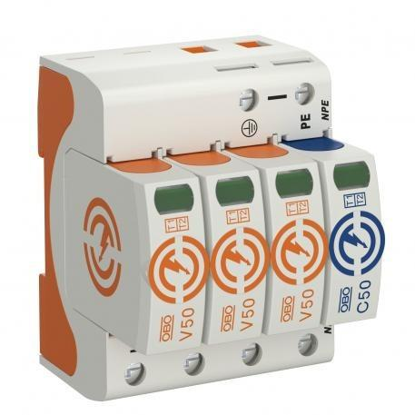 Combination arrestor V50, 3-pole + NPE 280 V