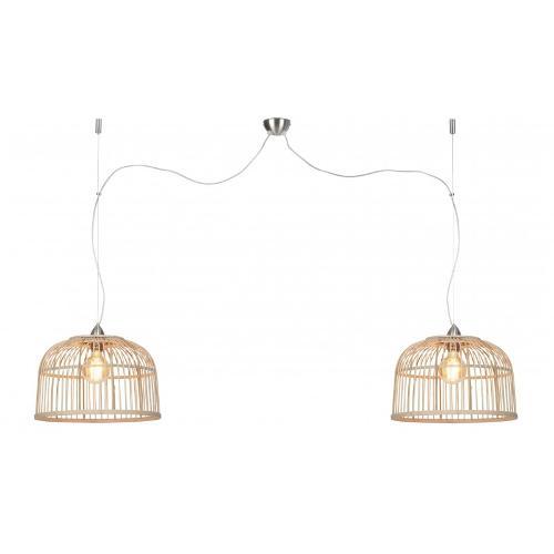 Lampe à suspension bambou BORNEO 2 abat-jours