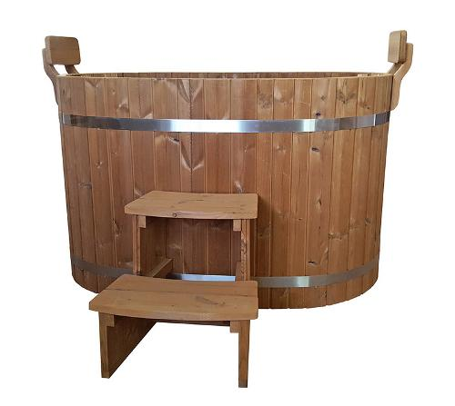 Wooden oval - ofuro hot tub