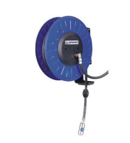 Enrouleur de tuyau air comprimé à tambour ouvert en acier