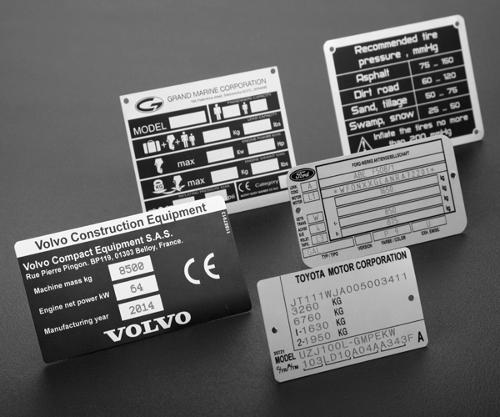 Anodized aluminum vehicle tags