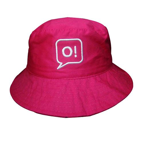 Bucket cap with embroidery logo