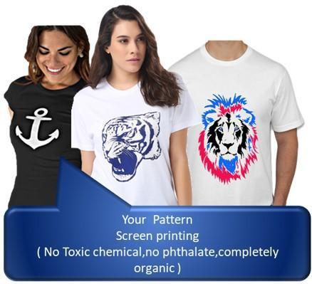 Pamuklu kaliteli T-Shirt imalat ve baakı