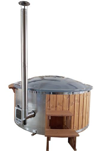Glass fiber hot tub