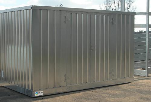 Bungalow de stockage 4 m x 2 m - Stockage rétention 914 L