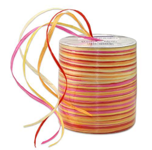 RAFFIA-Multicolour - bast ribbon