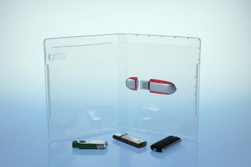 BluRay Box - für USB-Stick - transparent