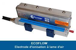 Électrode d'ionisation à lame d'air