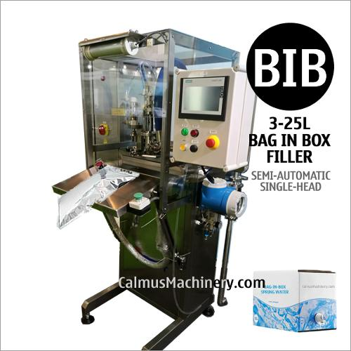 Semi-automatic 3-25 Litre Bag in Box Filler