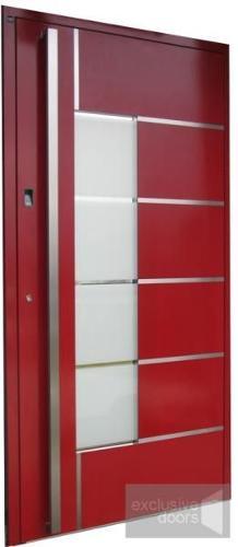 Drzwi aluminiowe Schuco z czytnikiem linii papilarnych EXD