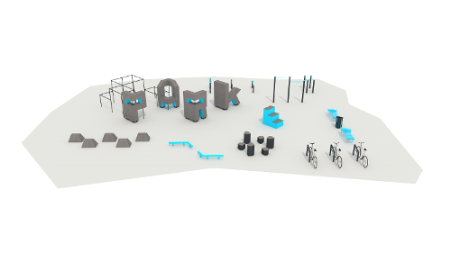 Ready-to-use parkour ground #2