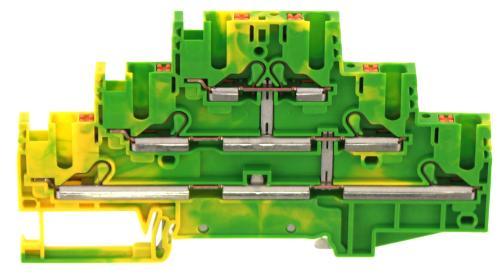 PIKD 2,5/SV/PE GNYE | Dreistock-Initiatorenklemme|Mehrleiterklemme
