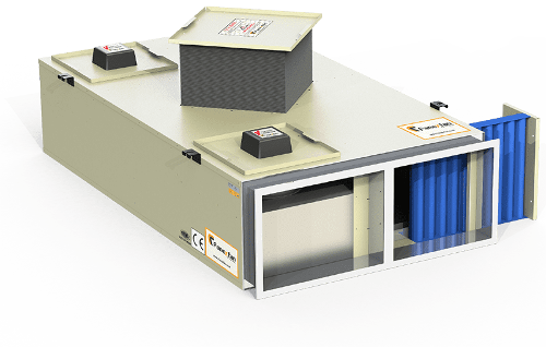 HEAT RECOVERY UNITS WITH PLUG FAN (WITH ALUMINUM EXCHANGER)