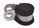 RSGU pipe clamp, galvanised steel (W1) with rubber...