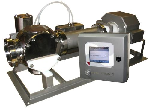 Metallseparator zum Einbau in Pumpleitungen zur Untersuchung flüssiger sowie pas