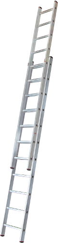 Two-section extension rung ladder NV 526