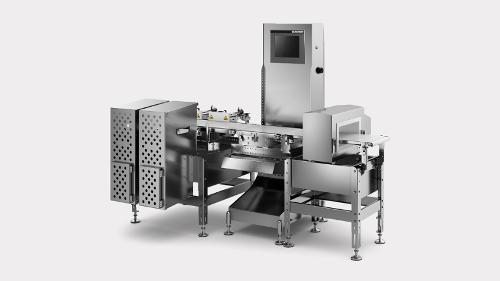 Dynamic checkweigher CWDmaxx in combination with metal...