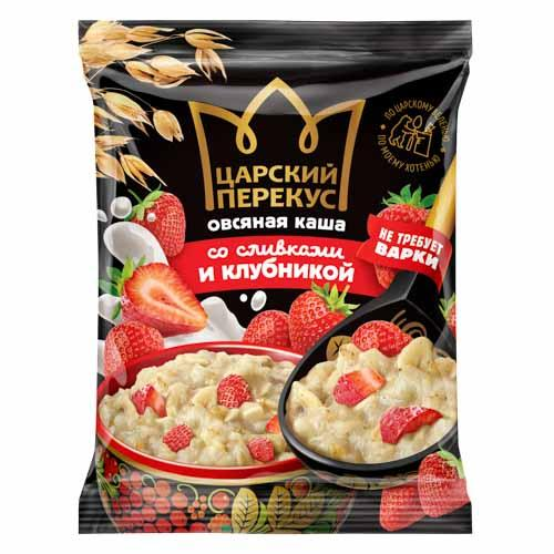 """Instant oatmeal porridge with cream """"With strawberries"""""""
