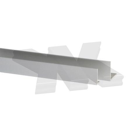 L-Profile 10x10x1mm, anodized