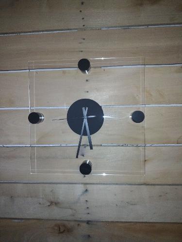 orologio da parete in cristallo acrilico
