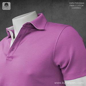 camiseta polo 100% algodon pima peruano