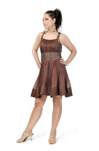 Poly Taffeta & Tulle Short Dresses