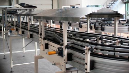 Scharnierbandförderer Aluminium-Standard-System