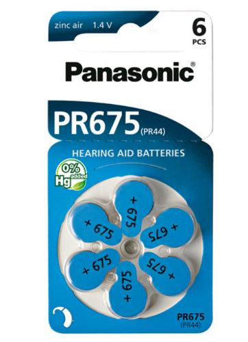 Batterie per apparecchi acustici PR675 – PR44