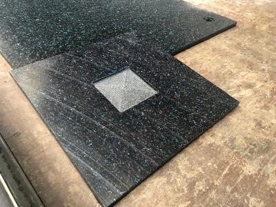 Baugerüst–Abstützplatten