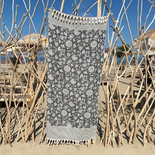 Hammam Towel Asia Black Beauty