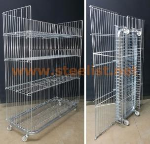 Foldable Storage Wire Basket Display