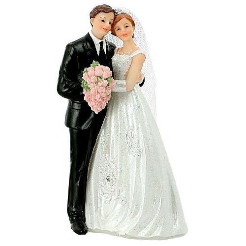 Figurine Gâteau Mariage Avec Bouquet