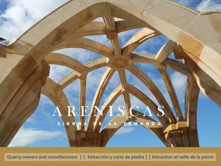 Arenisca Dorada elementos arquitectónicos