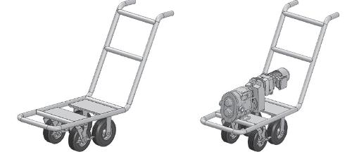Hygienic pump carts