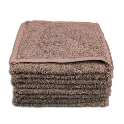4 Stück Handtuch Set 50x100cm Farbe: Taupe