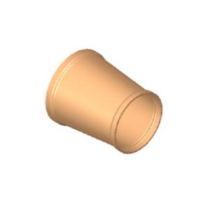 Reducer concentric, copper acc. to EN 1057/12449, Cu-DHP