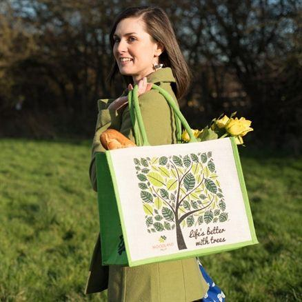Reusable and Eco-friendly Jute Tote Shopping Bag