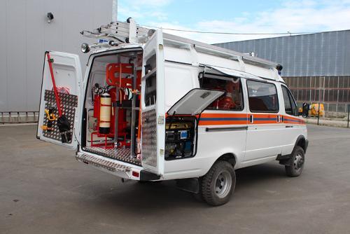 Аварийно-спасательный автомобиль на базе ГАЗ АСМ-7 (2705)