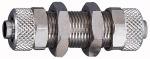 Bulkhead fitting, M16x1, for hose 12/10 mm, AF 19