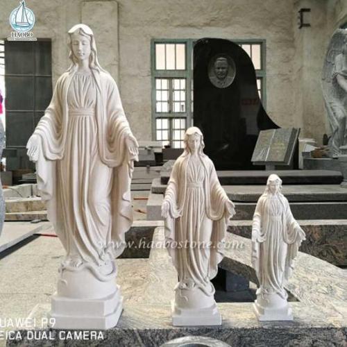 Beige Marble Sculpture Virgin Mary Statues