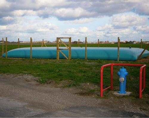 Réserve souple pour eau incendie